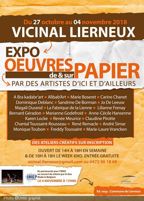 Exposition oeuvres papier